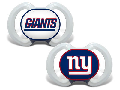 New York Giants Baby Fanatic 2-pack Pacifier Set