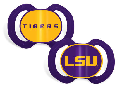LSU Tigers Baby Fanatic 2-pack Pacifier Set