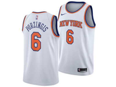 New York Knicks Kristaps Porzingis Nike NBA Men's Association Swingman Jersey