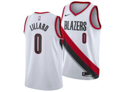 Portland Trail Blazers Damian Lillard Nike NBA Men's Association Swingman Jersey
