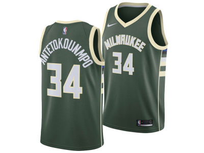 Milwaukee Bucks Giannis Antetokounmpo Nike NBA Men s Icon Swingman Jersey ea0f3e4b5