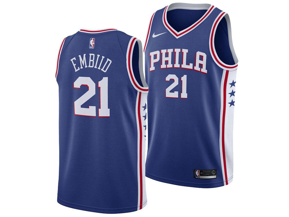 8840066a0 Philadelphia 76ers Joel Embiid Nike NBA Men s Icon Swingman Jersey ...