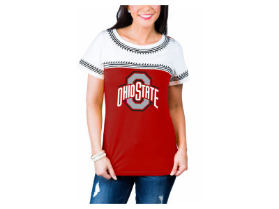 Ohio State Buckeyes Gameday Couture NCAA Women's Embroidered Yolk T-Shirt