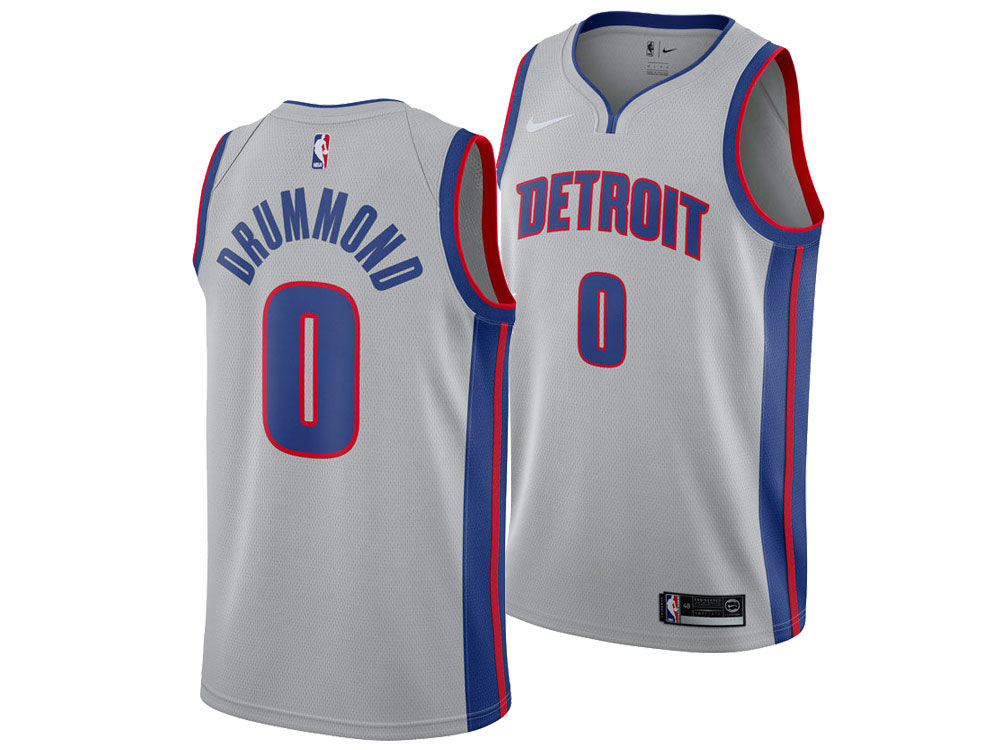 Detroit Pistons Andre Drummond Nike NBA Men s Statement Swingman Jersey 5a9f70f9a