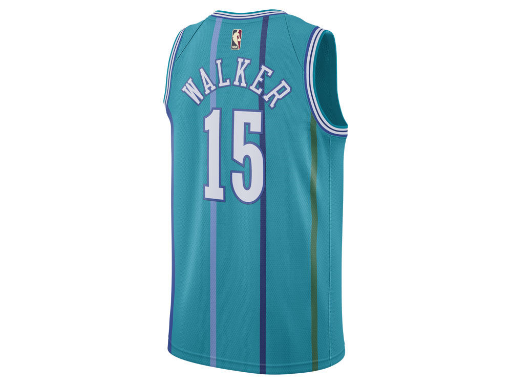 2764a4c40 Charlotte Hornets Kemba Walker Nike NBA Men s Hardwood Classics Swingman  Jersey