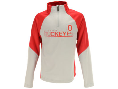 Ohio State Buckeyes Outerstuff NCAA Youth Girls Interface Quarter Zip Pullover