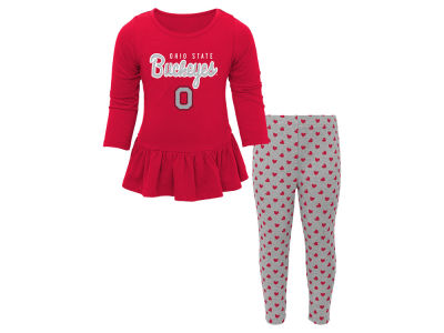 Ohio State Buckeyes NCAA Toddler Girls Tiny Trainer Set