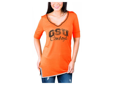Oklahoma State Cowboys Gameday Couture NCAA Women's Beaded Neckline T-Shirt