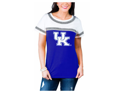Kentucky Wildcats Gameday Couture NCAA Women's Embroidered Yolk T-Shirt
