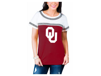 Oklahoma Sooners Gameday Couture NCAA Women's Embroidered Yolk T-Shirt
