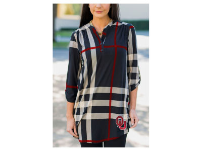 Oklahoma Sooners Gameday Couture NCAA Women's  Plaid Tunic Shirt
