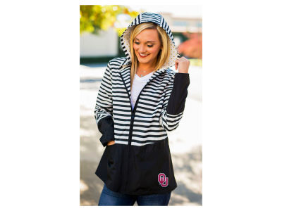Oklahoma Sooners Gameday Couture NCAA Women's Striped Packable Jacket