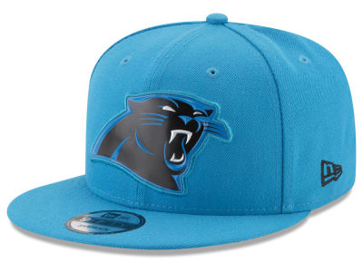 Carolina Panthers New Era NFL Bold Bevel 9FIFTY Snapback Cap