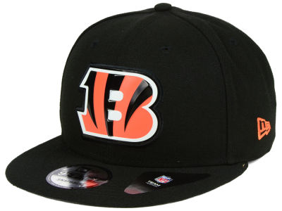 Cincinnati Bengals New Era NFL Bold Bevel 9FIFTY Snapback Cap