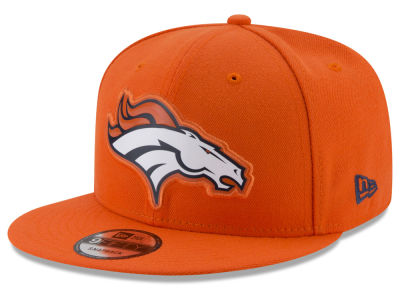 Denver Broncos New Era NFL Bold Bevel 9FIFTY Snapback Cap
