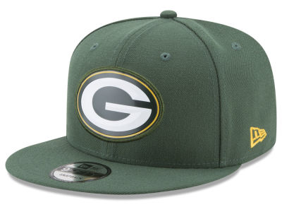 Green Bay Packers New Era NFL Bold Bevel 9FIFTY Snapback Cap