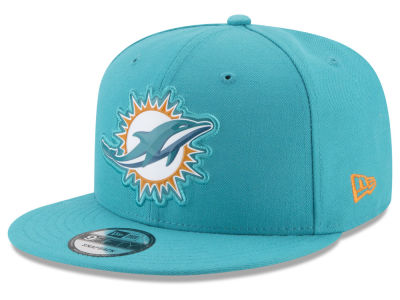 Miami Dolphins New Era NFL Bold Bevel 9FIFTY Snapback Cap