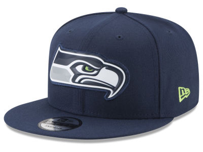 Seattle Seahawks New Era NFL Bold Bevel 9FIFTY Snapback Cap