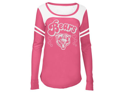 Chicago Bears 5th & Ocean NFL Youth Girls Pink Slub Long Sleeve T-Shirt