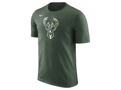 Milwaukee Bucks Nike NBA Men's Dri-Fit Cotton Logo T-Shirt