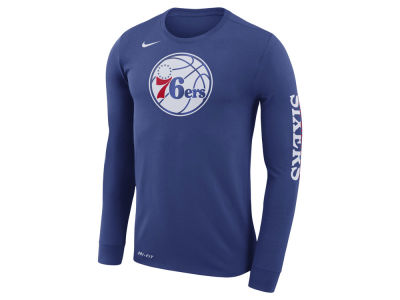 Philadelphia 76ers Nike NBA Men's Dri-FIT Cotton Logo Long Sleeve T-Shirt
