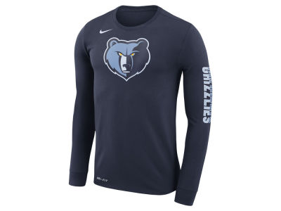 Memphis Grizzlies Nike NBA Men's Dri-FIT Cotton Logo Long Sleeve T-Shirt