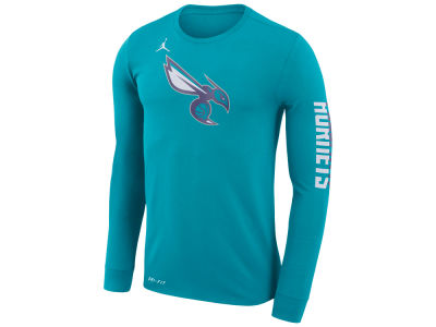 Charlotte Hornets Nike NBA Men's Dri-FIT Cotton Logo Long Sleeve T-Shirt