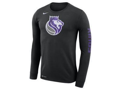Sacramento Kings Nike NBA Men's Dri-FIT Cotton Logo Long Sleeve T-Shirt