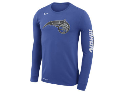 Orlando Magic Nike NBA Men's Dri-FIT Cotton Logo Long Sleeve T-Shirt