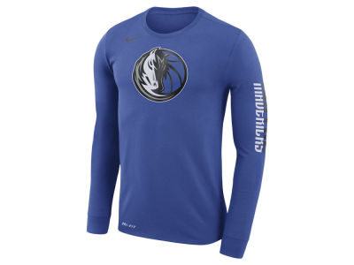 Dallas Mavericks Nike NBA Men's Dri-FIT Cotton Logo Long Sleeve T-Shirt