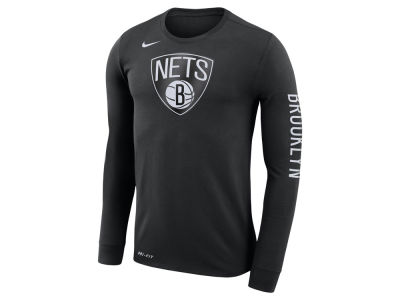Brooklyn Nets Nike NBA Men's Dri-FIT Cotton Logo Long Sleeve T-Shirt