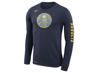 Denver Nuggets Nike NBA Men's Dri-FIT Cotton Logo Long Sleeve T-Shirt