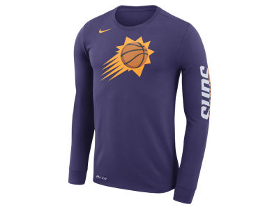 Phoenix Suns Nike NBA Men's Dri-FIT Cotton Logo Long Sleeve T-Shirt