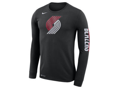 Portland Trail Blazers Nike NBA Men's Dri-FIT Cotton Logo Long Sleeve T-Shirt