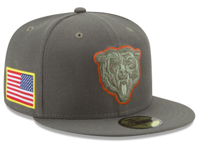 3c5181834 Chicago Bears New Era 2017 NFL Salute To Service 59FIFTY Cap