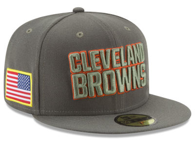 Cleveland Browns New Era 2017 NFL Salute To Service 59FIFTY Cap