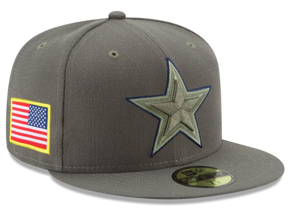 Dallas Cowboys New Era 2017 NFL Salute To Service 59FIFTY Cap  d785a2aa2b18