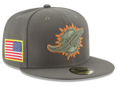 Miami Dolphins New Era 2017 NFL Salute To Service 59FIFTY Cap