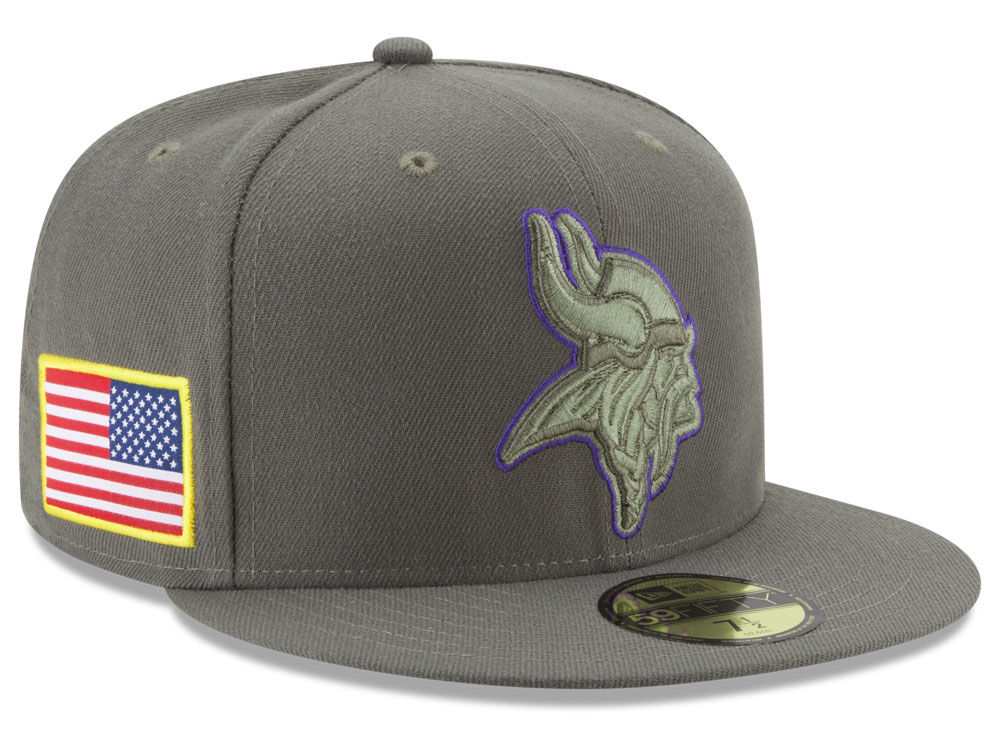 Minnesota Vikings New Era 2017 NFL Salute To Service 59FIFTY Cap ... ee6f676f756