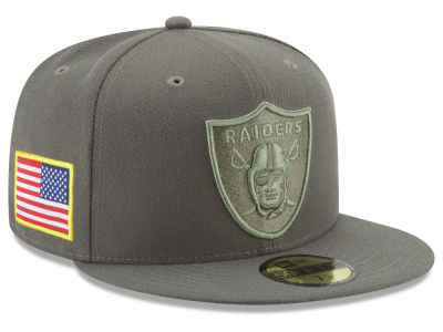 Oakland Raiders New Era 2017 NFL Salute To Service 59FIFTY Cap