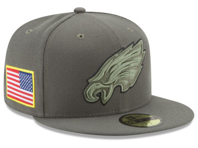 Philadelphia Eagles New Era 2017 NFL Salute To Service 59FIFTY Cap