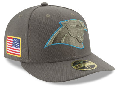 Carolina Panthers New Era 2017 NFL Salute To Service Low Profile 59FIFTY Cap