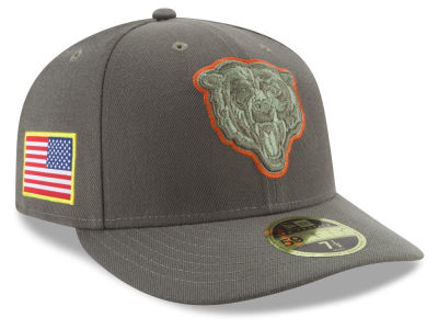 Chicago Bears New Era 2017 NFL Salute To Service Low Profile 59FIFTY Cap