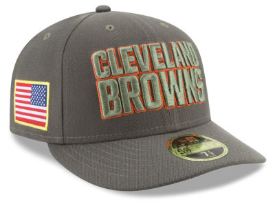 Cleveland Browns New Era 2017 NFL Salute To Service Low Profile 59FIFTY Cap