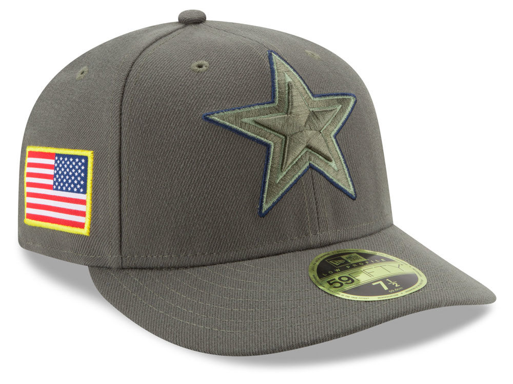 Dallas Cowboys New Era 2017 NFL Salute To Service Low Profile 59FIFTY Cap  1d48b71ed50