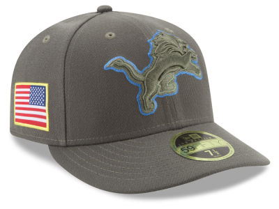 Detroit Lions New Era 2017 NFL Salute To Service Low Profile 59FIFTY Cap