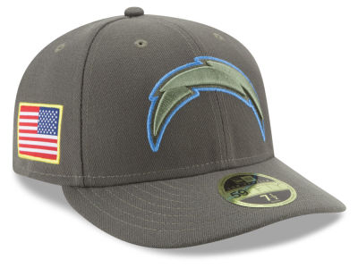 Los Angeles Chargers New Era 2017 NFL Salute To Service Low Profile 59FIFTY Cap