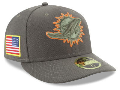 Miami Dolphins New Era 2017 NFL Salute To Service Low Profile 59FIFTY Cap