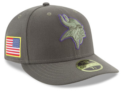 Minnesota Vikings New Era 2017 NFL Salute To Service Low Profile 59FIFTY Cap