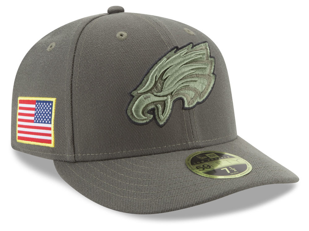 Philadelphia Eagles New Era 2017 NFL Salute To Service Low Profile 59FIFTY  Cap  6c9c064e386